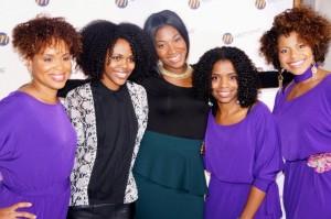 LtoR: Me, Curly Nikki, Ursula Stephen, Briana, Carla