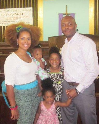 Rachel True and family