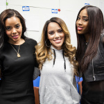 Angela Simmons, WGCI's Loni Swain and Sevyn Streeter snap a pic before the show begins